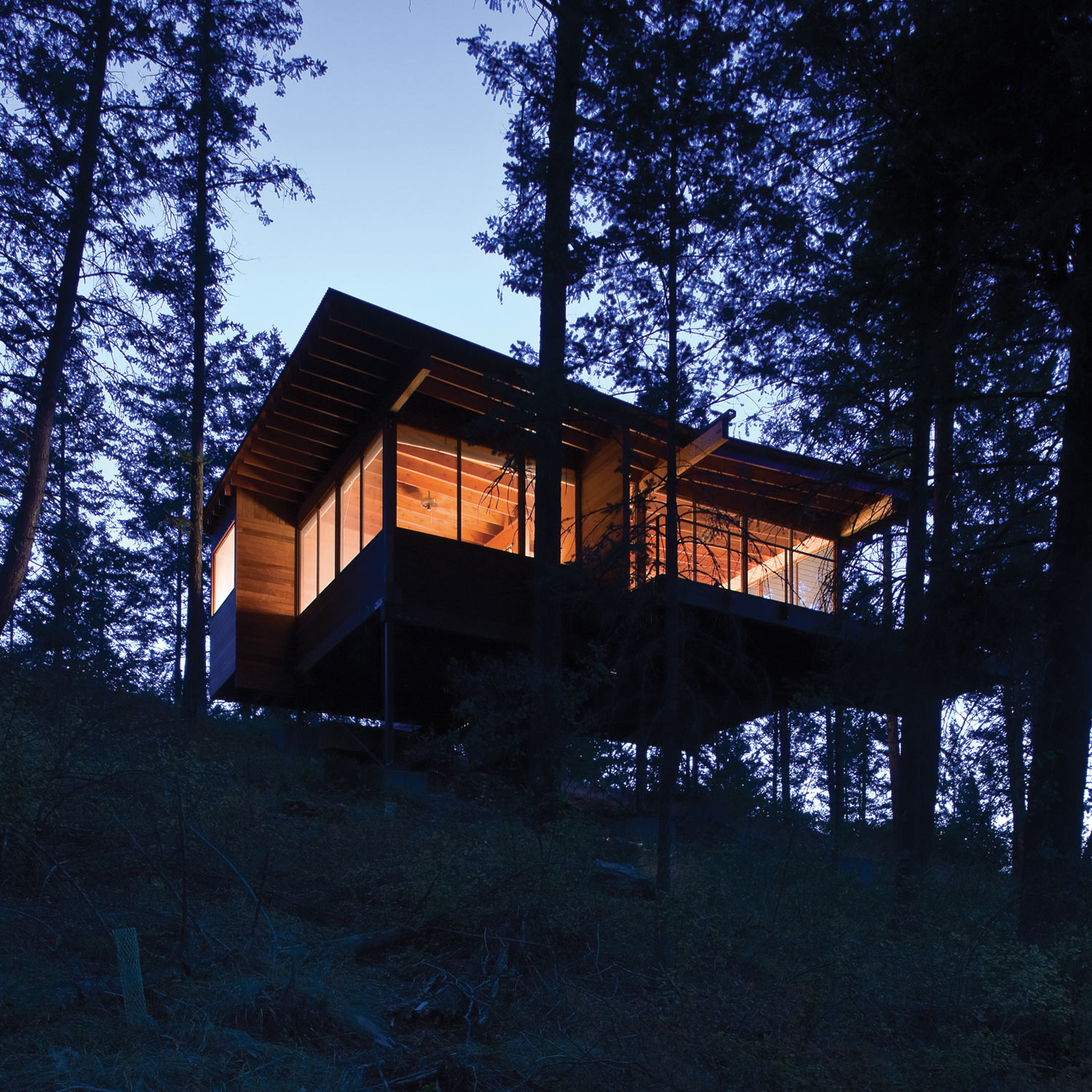 Cottage On Stilts By Andersson Wise Architects: Flathead Lake Cabin