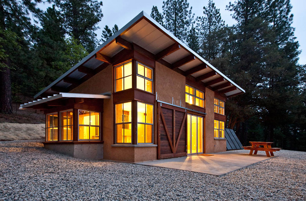Hybrid straw bale home for Straw bale home designs
