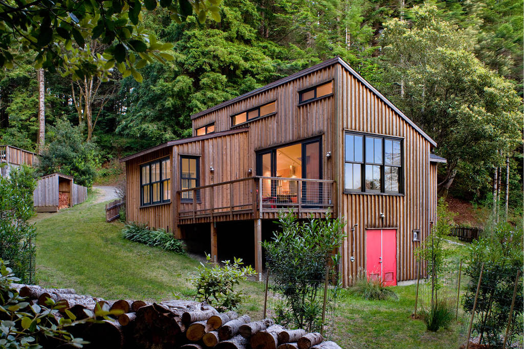 Mendocino County House - rustic tiny house ideas