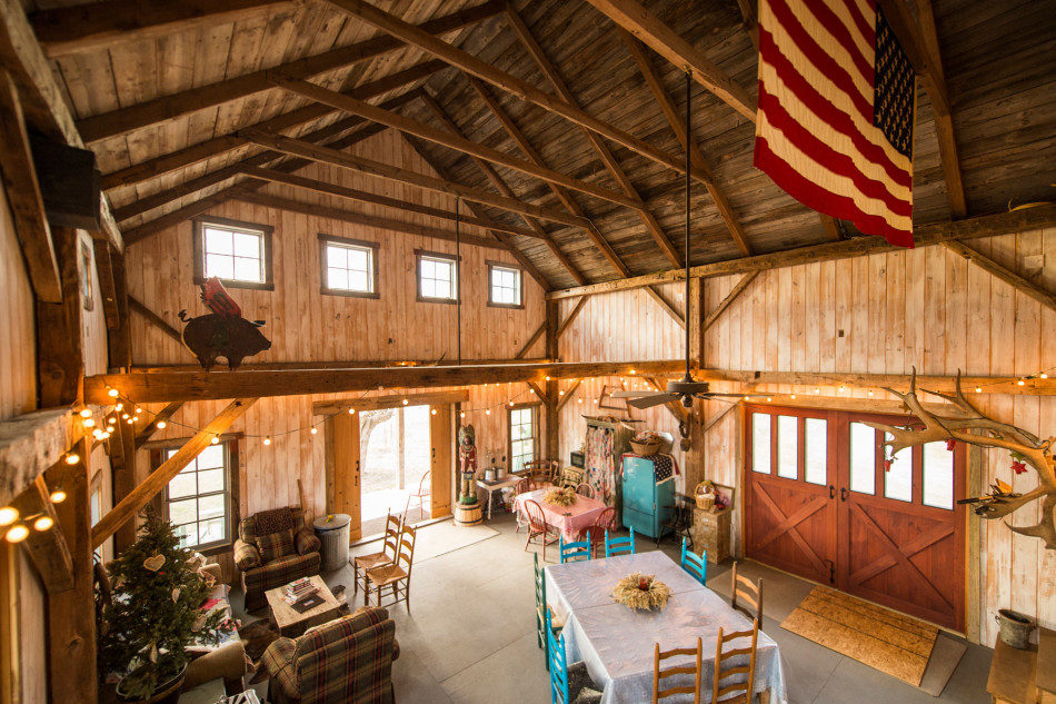Mckinney guest house for Converting a pole barn into a house