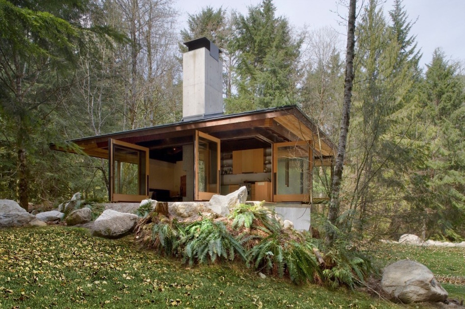 Tye river cabin by olson kundig architects for Contemporary cottage design