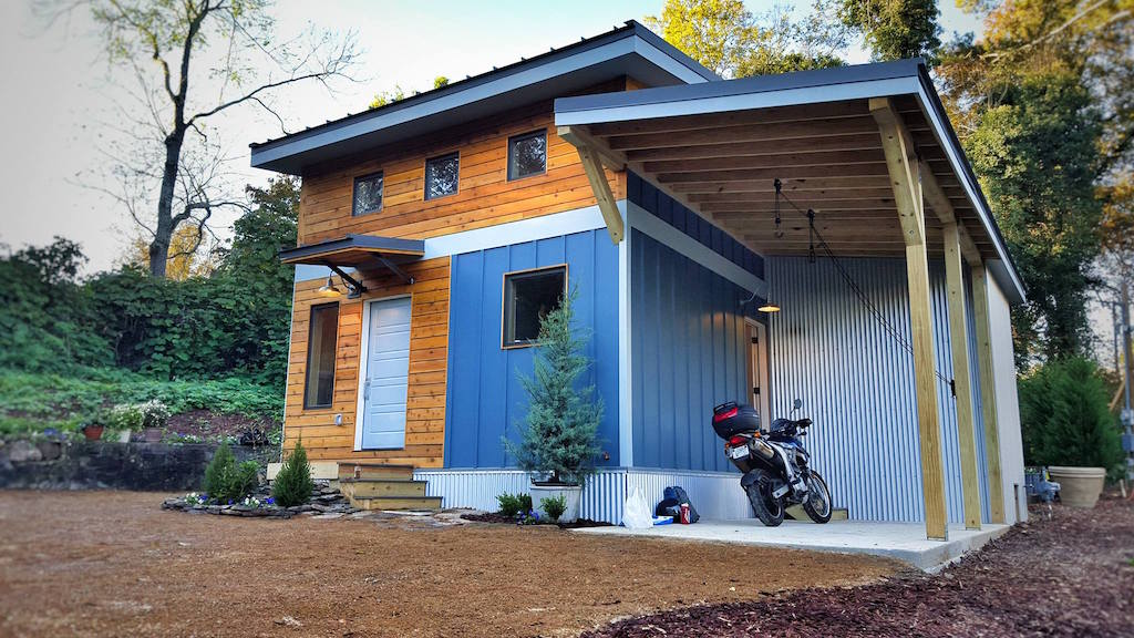 Micro Home urban micro home by wind river tiny homes concrete counter by set in stone Urban Micro Home